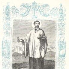 Arte: SAN ANDRÉS AVELINO, CONFESOR - GRABADO DÉCADAS 1850-1860 - BUEN ESTADO. Lote 176431688
