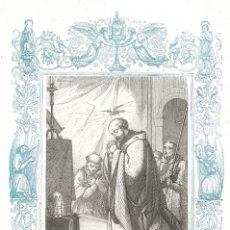 Arte: SAN CEFERINO, PAPA Y MARTIR - GRABADO DÉCADAS 1850-1860 - BUEN ESTADO. Lote 176432268