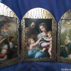 Art: TRÍPTICO ANTIGUO RELIGIOSO. Lote 176434344