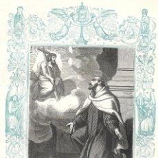 Arte: SAN JUAN DE LA CRUZ CONFESOR - GRABADO DÉCADAS 1850-1860 - BUEN ESTADO. Lote 176434505