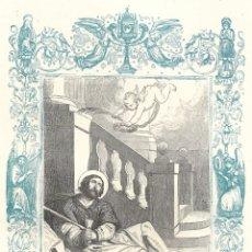 Arte: SAN ALEJO, CONFESOR - GRABADO DÉCADAS 1850-1860 - BUEN ESTADO. Lote 176434850
