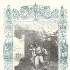 Arte: PAGA EL SALARIO A TUS CRIADOS - GRABADO DÉCADAS 1850-1860 - BUEN ESTADO. Lote 176435103