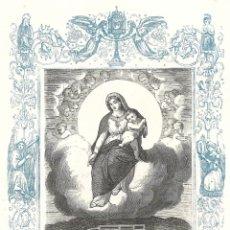 Arte: NUESTRA SEÑORA DE LAS NIEVES - GRABADO DÉCADAS 1850-1860 - BUEN ESTADO. Lote 176436274