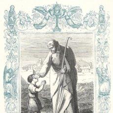 Arte: SAN APOLINAR, OBISPO Y MARTIR - GRABADO DÉCADAS 1850-1860 - BUEN ESTADO. Lote 176436483