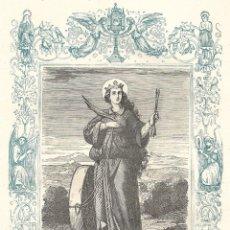 Arte: SANTA CRISTINA, VIRGEN Y MARTIR - GRABADO DÉCADAS 1850-1860 - BUEN ESTADO. Lote 176436524