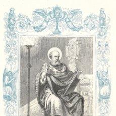 Arte: SAN VICTOR, PAPA - GRABADO DÉCADAS 1850-1860 - BUEN ESTADO. Lote 176436739