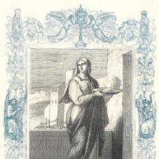 Arte: SANTA MARTA, VIRGEN - GRABADO DÉCADAS 1850-1860 - BUEN ESTADO. Lote 176436802