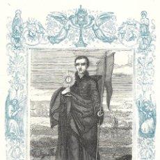 Arte: SAN IGNACIO DE LOYOLA, FUNDADOR - GRABADO DÉCADAS 1850-1860 - BUEN ESTADO. Lote 176436953