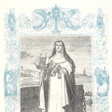 Arte: SANTA MARÍA DE SOCORS, VIRGEN - GRABADO DÉCADAS 1850-1860 - BUEN ESTADO. Lote 176437219
