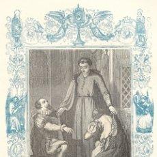 Arte: SAN JUAN FRANCISCO DE REGIS, CONFESOR - GRABADO DÉCADAS 1850-1860 - BUEN ESTADO. Lote 176437269