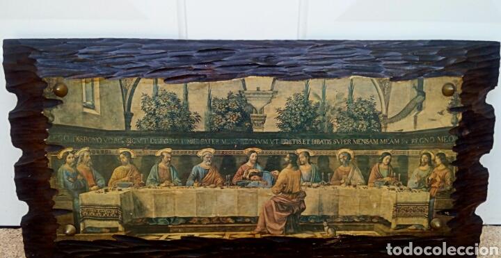Arte: Retablo - Ultima cena de Cristo con sus apostoles. Sobre madera - Foto 2 - 176441143