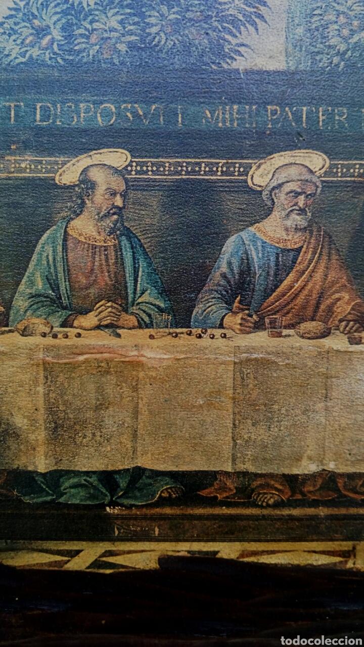 Arte: Retablo - Ultima cena de Cristo con sus apostoles. Sobre madera - Foto 3 - 176441143