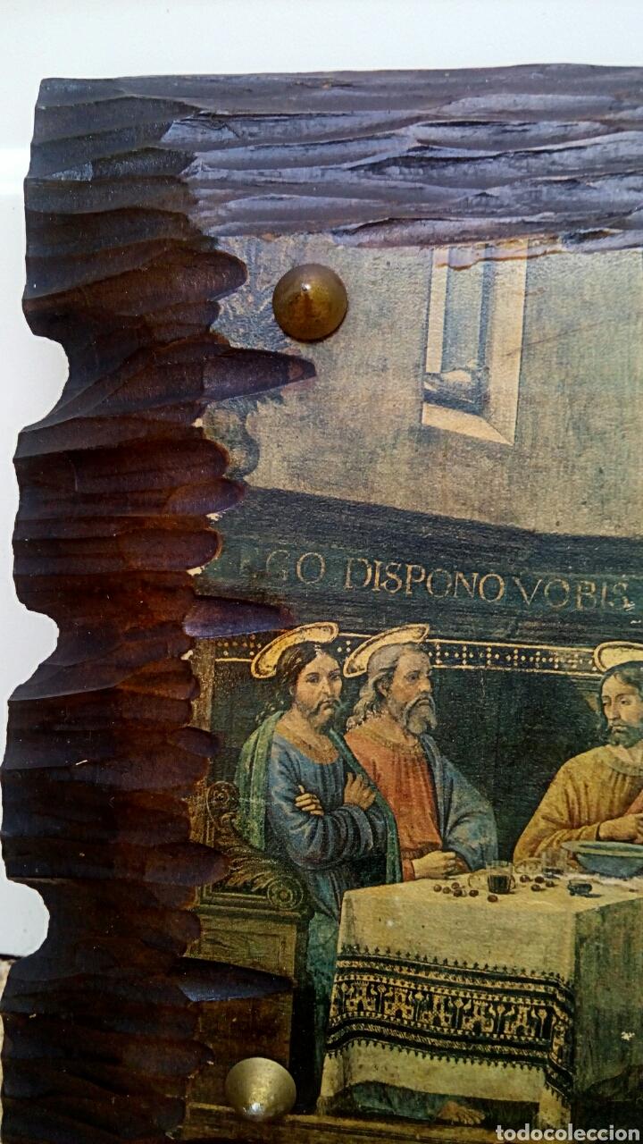 Arte: Retablo - Ultima cena de Cristo con sus apostoles. Sobre madera - Foto 4 - 176441143