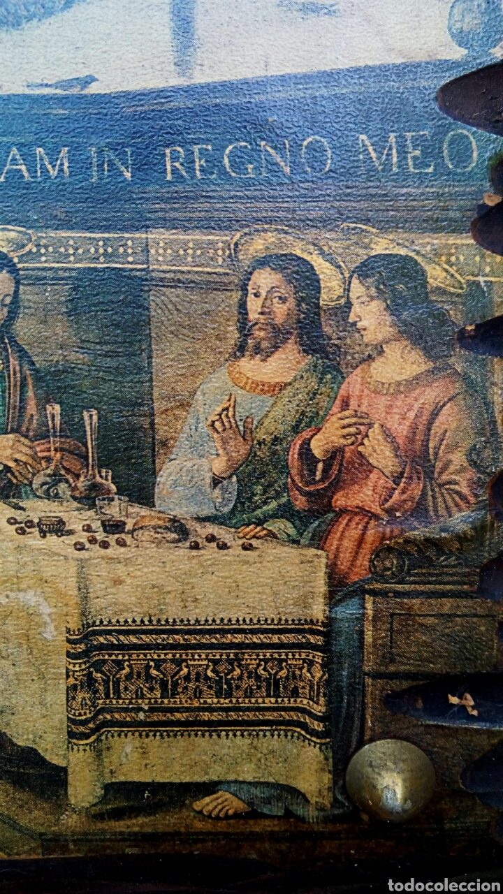 Arte: Retablo - Ultima cena de Cristo con sus apostoles. Sobre madera - Foto 5 - 176441143