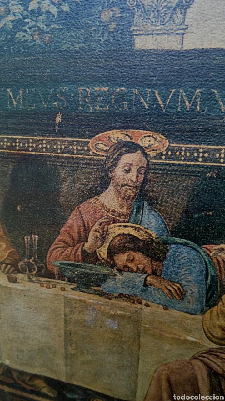 Arte: Retablo - Ultima cena de Cristo con sus apostoles. Sobre madera - Foto 6 - 176441143