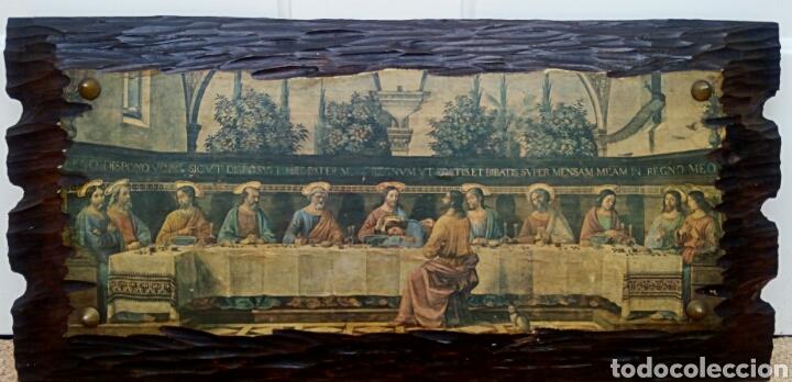 Arte: Retablo - Ultima cena de Cristo con sus apostoles. Sobre madera - Foto 7 - 176441143