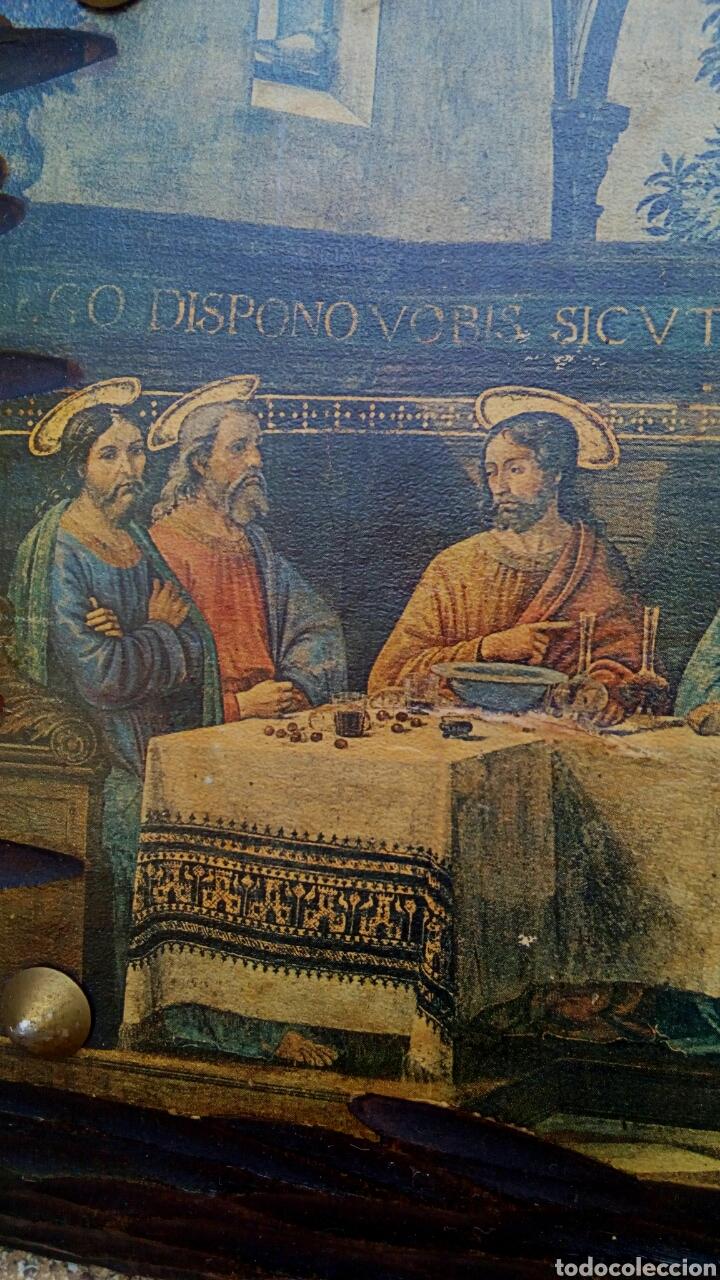 RETABLO - ULTIMA CENA DE CRISTO CON SUS APOSTOLES. SOBRE MADERA (Arte - Arte Religioso - Retablos)