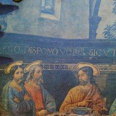 Arte: RETABLO - ULTIMA CENA DE CRISTO CON SUS APOSTOLES. SOBRE MADERA. Lote 176441143