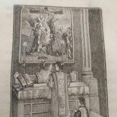 Arte: ANTIGUO GRABADO RELIGIOSO , DESCENDIMIENTO DE LA CRUZ DE CRISTO POR JOSE Y NOCODEMUS . Lote 176451208