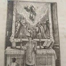 Arte: ANTIGUO GRABADO RELIGIOSO , CRISTO SUBIO A LOS CIELOS . Lote 176451510