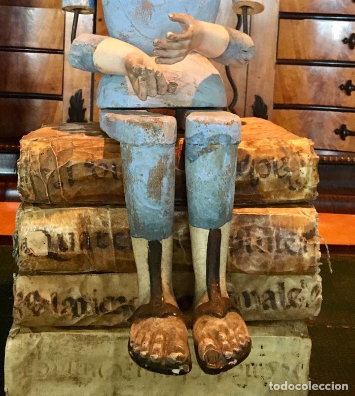 Arte: Virgen madera. Cap i pota. Sentada, con trono. S.XIX 42cm - Foto 10 - 176472684