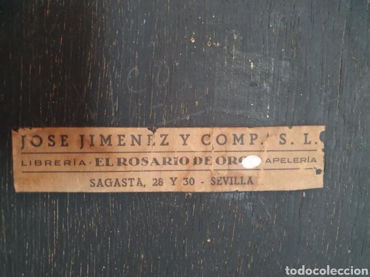 Arte: ANTIGUO MARCO CON FORMA DE CAPILLA LLEVA LITOGRAFÍA DEL SAGRADO CORAZÓN DE JESÚS - Foto 10 - 176484695