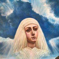 Arte: SEMANA SANTA SEVILLA. CUADRO DE LA VIRGEN DE LAS AGUAS. MUSEO. ÓLEO LIENZO. PINTURA. RELIGIOSA.. Lote 176487318