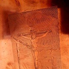 Arte: GRABADO DE COBRE - 1800'S - 4 IMÁGENES - LA PASIÓN DE CRISTO. Lote 176490782