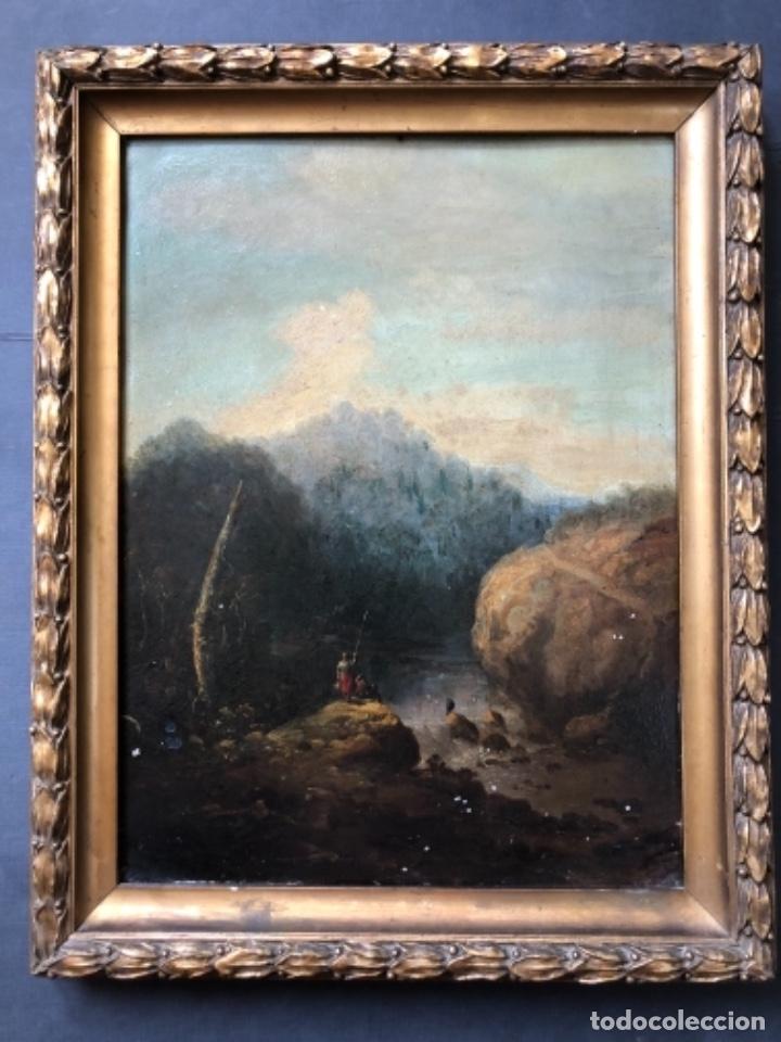 OLEO SOBRE ZINC O COBRE, PAISAJE RURAL, CENTROEUROPEA SIGLO XVIII, 32X43 CM (Arte - Arte Religioso - Pintura Religiosa - Oleo)