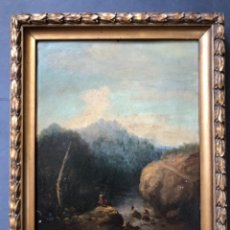 Arte: OLEO SOBRE ZINC O COBRE, PAISAJE RURAL, CENTROEUROPEA SIGLO XVIII, 32X43 CM. Lote 176493092