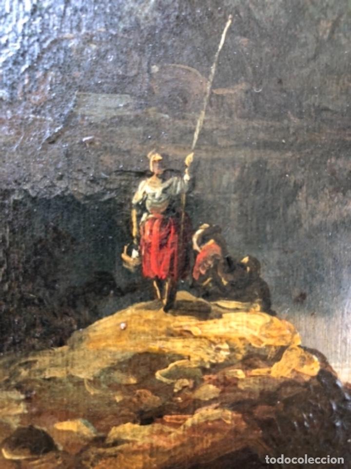 Arte: OLEO SOBRE ZINC O COBRE, PAISAJE RURAL, CENTROEUROPEA SIGLO XVIII, 32X43 CM - Foto 4 - 176493092