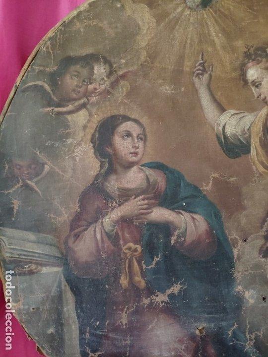 Arte: ÓLEO SOBRE LIENZO, ANUNCIACIÓN, SIGLO XVII-XVIII - 1000-039 - Foto 3 - 176503863