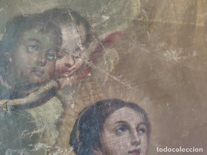 Arte: ÓLEO SOBRE LIENZO, ANUNCIACIÓN, SIGLO XVII-XVIII - 1000-039 - Foto 12 - 176503863