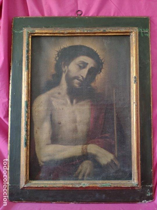 ÓLEO SOBRE LIENZO, ECCE HOMO, SIGLO XVI-XVII, 1000-044 (Arte - Arte Religioso - Pintura Religiosa - Oleo)