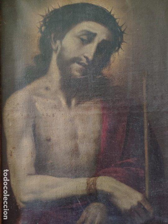 Arte: ÓLEO SOBRE LIENZO, ECCE HOMO, SIGLO XVI-XVII, 1000-044 - Foto 2 - 176505808