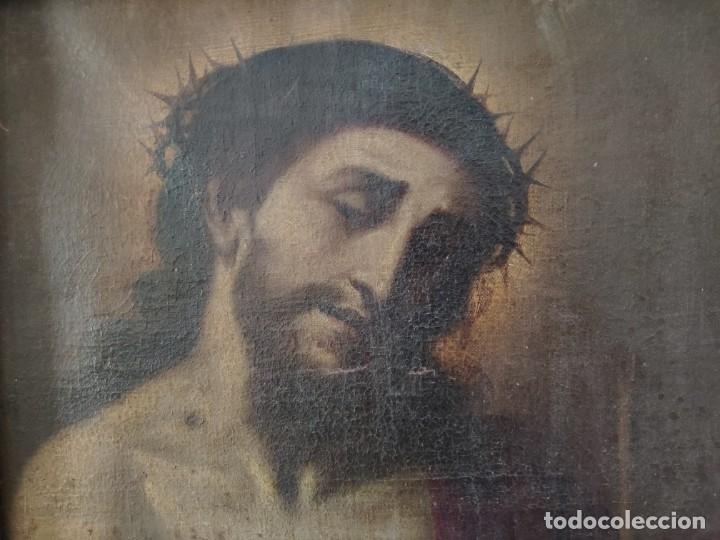 Arte: ÓLEO SOBRE LIENZO, ECCE HOMO, SIGLO XVI-XVII, 1000-044 - Foto 3 - 176505808