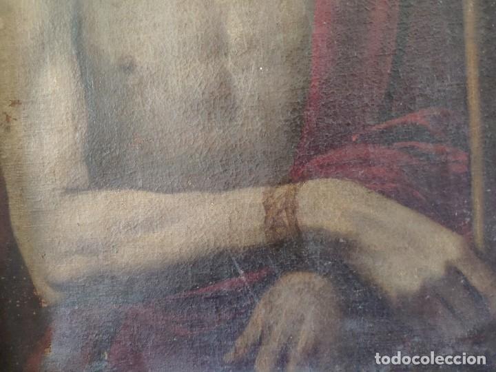 Arte: ÓLEO SOBRE LIENZO, ECCE HOMO, SIGLO XVI-XVII, 1000-044 - Foto 5 - 176505808