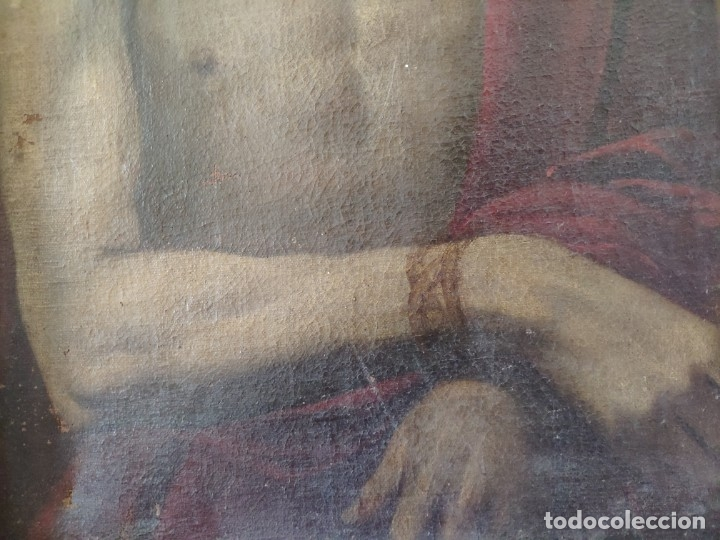 Arte: ÓLEO SOBRE LIENZO, ECCE HOMO, SIGLO XVI-XVII, 1000-044 - Foto 6 - 176505808