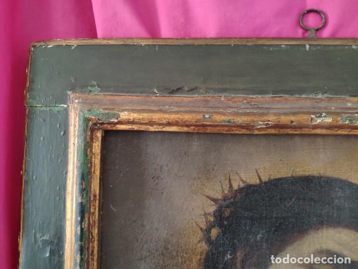 Arte: ÓLEO SOBRE LIENZO, ECCE HOMO, SIGLO XVI-XVII, 1000-044 - Foto 7 - 176505808