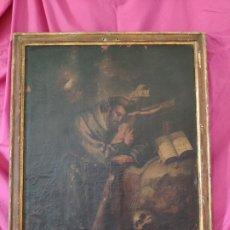 Arte: ÓLEO SOBRE LIENZO, EL ABRAZO DE SAN FRANCISCO, JOAQUIN CAMPOS 1803 - 1000-053. Lote 176506389