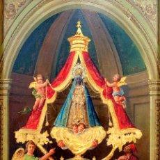 Arte: VIRGEN DE MONTSERRAT. ÓLEO SOBRE CARTÓN. ESPAÑA. FIN SIGLO XIX. Lote 176558118