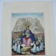 Arte: LITOGRAFIA DE NUESTRA SEÑORA DE MONSERRATE COLOREADA A MANO. ANTONIO PASCUAL ABAD. LITOGRAFIA DE NUE. Lote 176625575