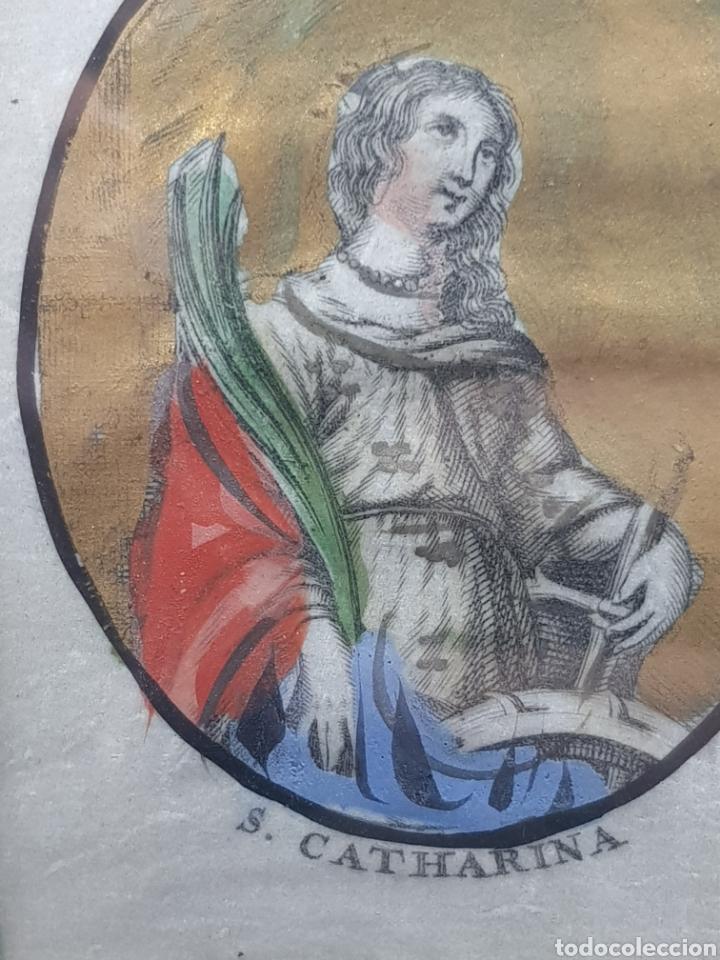 Arte: Antiguo cuadrito de Santa Catalina s. Catharina - Foto 5 - 176625750
