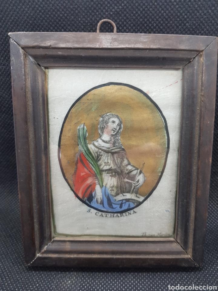ANTIGUO CUADRITO DE SANTA CATALINA S. CATHARINA (Arte - Arte Religioso - Grabados)