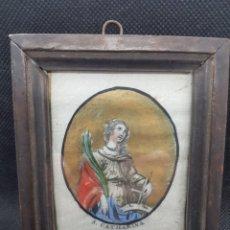 Arte: ANTIGUO CUADRITO DE SANTA CATALINA S. CATHARINA. Lote 176625750
