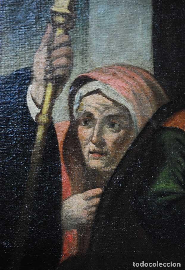 Arte: ÓLEO SOBRE LIENZO SANTO TOMÁS DE VILLANUEVA REPARTIENDO LIMOSNAS - Foto 7 - 176722375