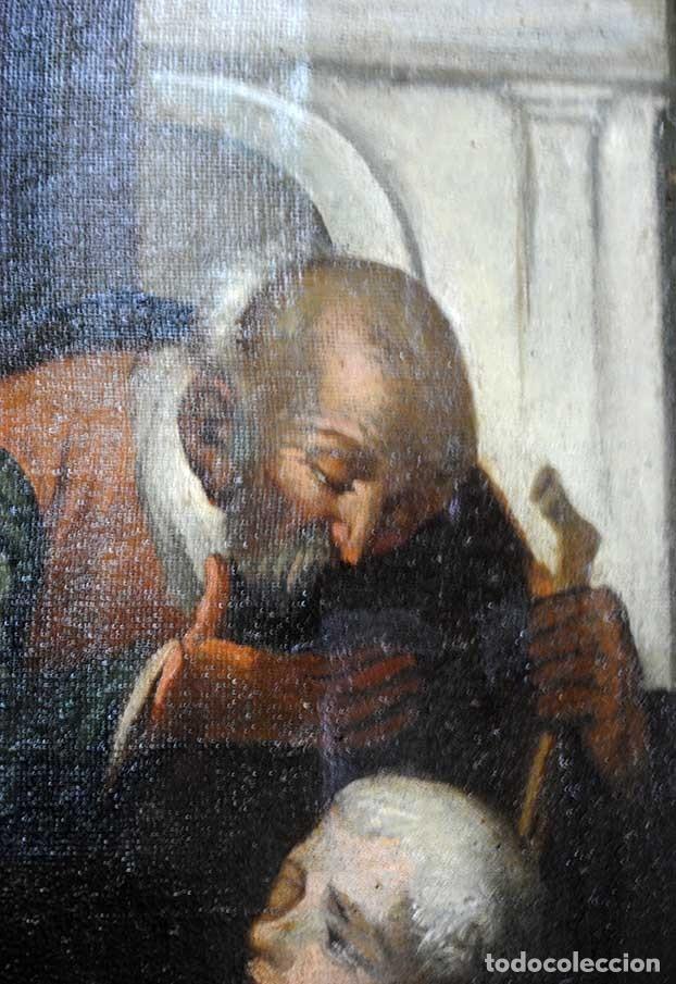 Arte: ÓLEO SOBRE LIENZO SANTO TOMÁS DE VILLANUEVA REPARTIENDO LIMOSNAS - Foto 8 - 176722375