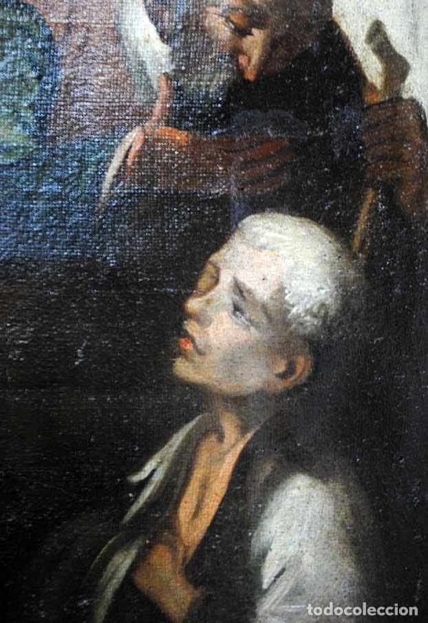 Arte: ÓLEO SOBRE LIENZO SANTO TOMÁS DE VILLANUEVA REPARTIENDO LIMOSNAS - Foto 9 - 176722375