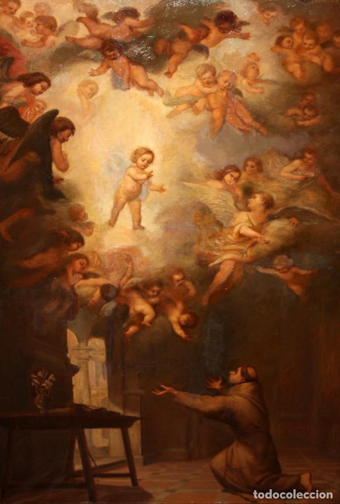 JOSE DABRIO PEREZ (1900-1973) OLEO SOBRE TELA. SAN ANTONIO SEGUN MURILLO (Arte - Arte Religioso - Pintura Religiosa - Oleo)