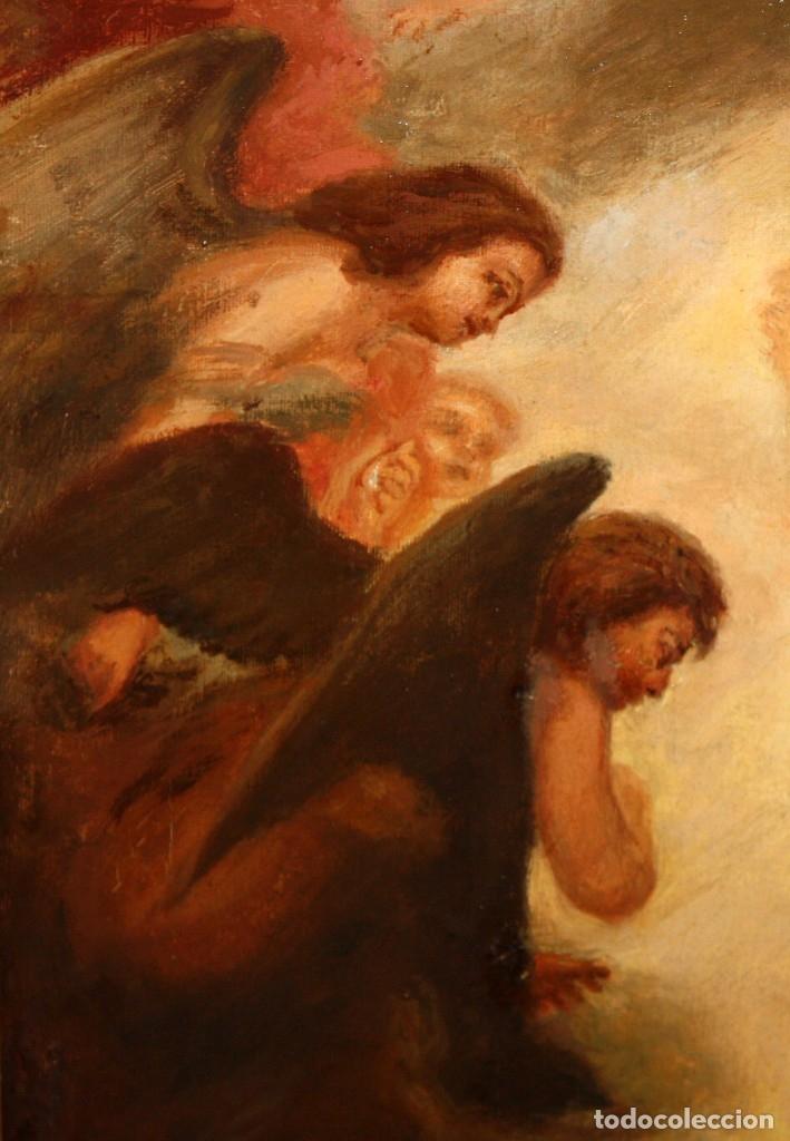 Arte: JOSE DABRIO PEREZ (1900-1973) OLEO SOBRE TELA. SAN ANTONIO SEGUN MURILLO - Foto 6 - 176736639